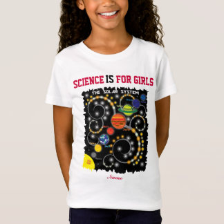 PersonalizedScience IS For Girls, The Solar System T-Shirt