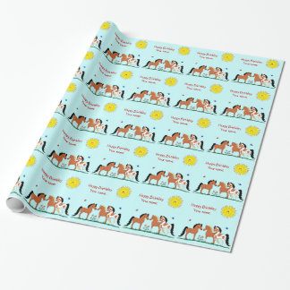 Personalizied Horse Buddies Wrapping Paper
