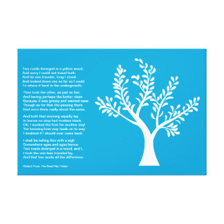 PersonalTrees - Bright Blue -  Poet Tree Stretched Canvas Print