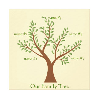 PersonalTrees Full Color  Family Tree Canvas Print