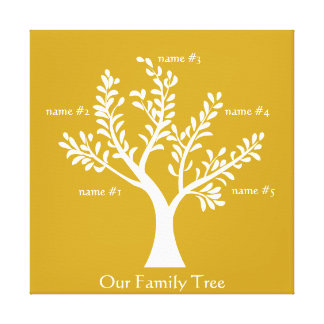 PersonalTrees Goldenrod  Family Tree Canvas Print