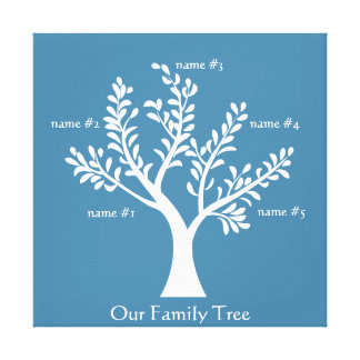 PersonalTrees Hyacinth Family Tree Canvas Gallery Wrap Canvas
