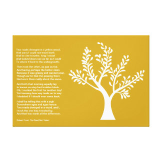 PersonalTrees - Poet Tree- The Road Not Taken Gallery Wrap Canvas