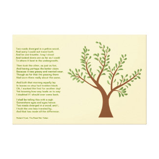 PersonalTrees - Poet Tree- The Road Not Taken Canvas Print