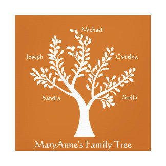 PersonalTrees Red Clay Family Tree Canvas Print
