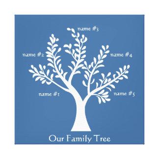 PersonalTrees Slate Blue Family Tree Canvas Print