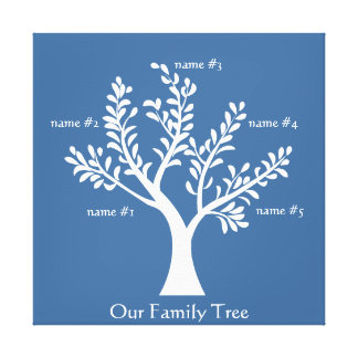 PersonalTrees Slate Blue  Family Tree Canvas Print