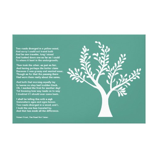 PersonalTrees - Turquoise -  Poet Tree Gallery Wrap Canvas