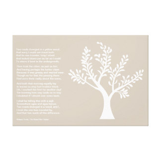 PersonalTrees - Warm Gray -  Poet Tree Stretched Canvas Print