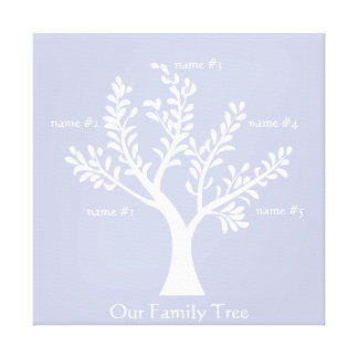 PersonalTrees Wisteria Family Tree Canvas Stretched Canvas Prints