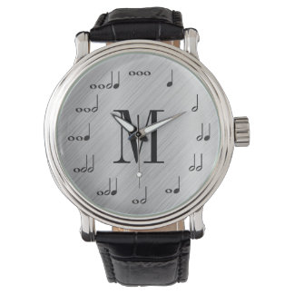 Personalzied Monogram Music Note Watch