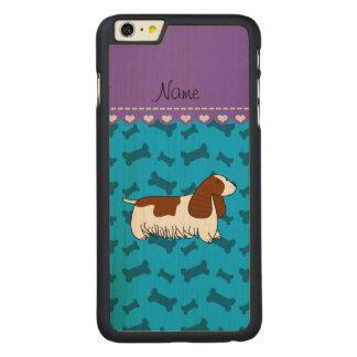 Personalzied name cocker spaniel blue bones carved® maple iPhone 6 plus case