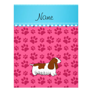 Personalzied name cocker spaniel pink paws flyers