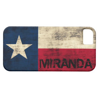 Personalzied Vintage Grunge Flag of Texas Barely There iPhone 5 Case