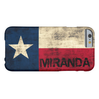 Personalzied Vintage Grunge Flag of Texas Barely There iPhone 6 Case