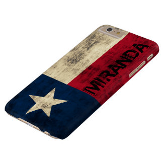 Personalzied Vintage Grunge Flag of Texas Barely There iPhone 6 Plus Case