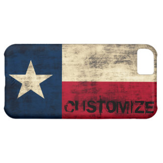 Personalzied Vintage Grunge Flag of Texas Case For iPhone 5C