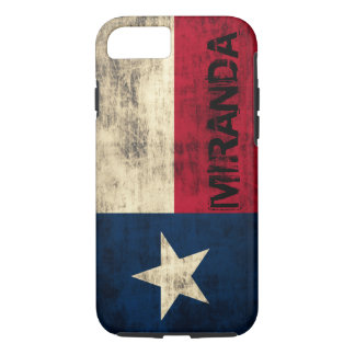 Personalzied Vintage Grunge Flag of Texas iPhone 8/7 Case