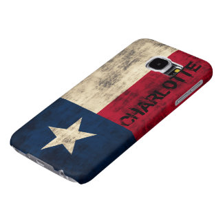 Personalzied Vintage Grunge Flag of Texas Samsung Galaxy S6 Cases