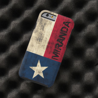 Personalzied Vintage Grunge Flag of Texas Tough iPhone 6 Case