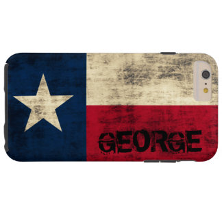 Personalzied Vintage Grunge Flag of Texas Tough iPhone 6 Plus Case