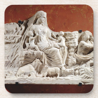 Personification of the earth mother, allegorical r drink coaster