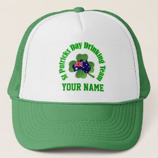 Personlalized  Irish Australian St Patrick's day Trucker Hat