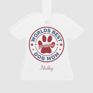 Personlize Best Dog Mom Yorkshire Paw Print