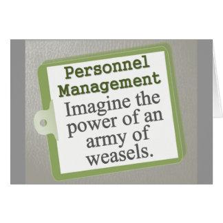 Personnel Management  Card