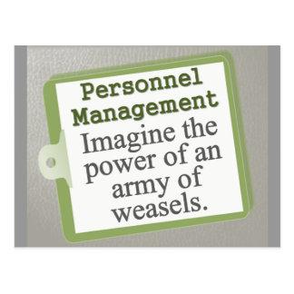 Personnel Management  Postcard