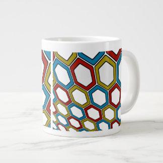 Perspective Hexagons Giant Coffee Mug