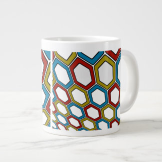 Perspective Hexagons Large Coffee Mug