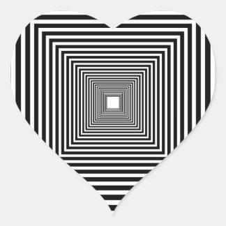 Perspective illusion heart sticker