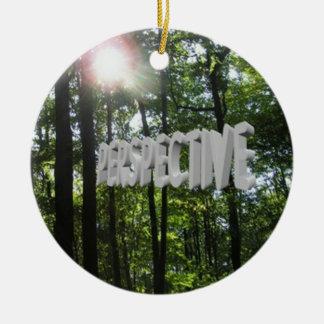 Perspective Motivation Christmas Ornament
