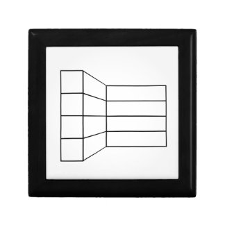 Perspective of a wall- abstract architecture graph small square gift box
