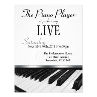 Perspective Piano Keys Performance Announcement 21.5 Cm X 28 Cm Flyer