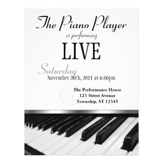 Perspective Piano Keys Performance Announcement Flyer