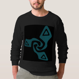 Perspective Tri-Arrows(Teal And Black) Sweatshirt
