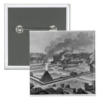 Perspective view of a canon forge 15 cm square badge