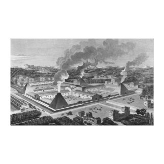 Perspective view of a canon forge canvas print