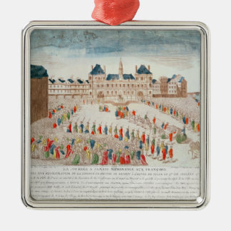Perspective view of the arrival of Louis Christmas Ornament