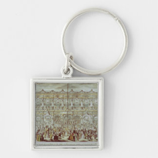 Perspective view of the ballroom constructed key ring