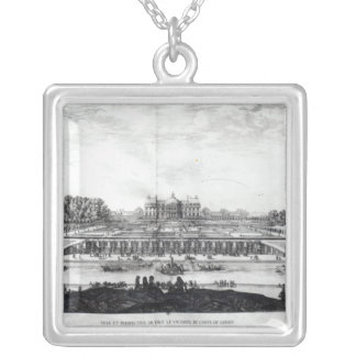 Perspective View of the garden fa�ade Silver Plated Necklace