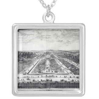Perspective View of the Garden Silver Plated Necklace
