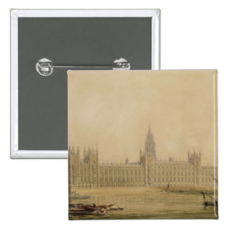 Perspective View of the new Houses of Parliament, 15 Cm Square Badge