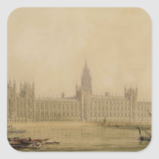 Perspective View of the new Houses of Parliament, Square Sticker