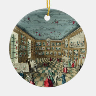 Perspective View of the Salon of the Royal Academy Christmas Ornament