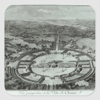 Perspective View of the Town of Chaux, c. 1804 Sticker