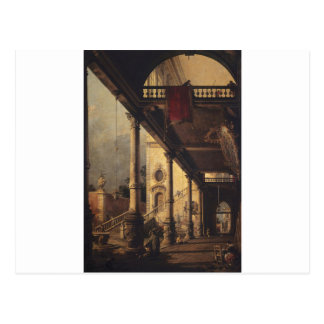 Perspective with a Portico by Canaletto Postcard