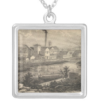 Persse and Brooks' Paper Works Silver Plated Necklace